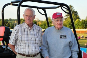 Brother's Guy (left) and Eddie McCardel were awarded the first Port Royal Speedway Founders Awards in 2011.
